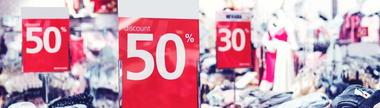 kledingwinkel met uitverkoop korting